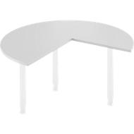 Aanbouwtafel, Ø 1400 mm, lichtgrijs/wit