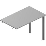 Aanbouwtafel ARLON-OFFICE, B 1000 x D 600 x H 730 mm, lichtgrijs