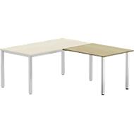 Aanbouwtafel BEXXSTAR, poot vierkante buis, rechthoekig, B 1000 x D 600 x H 740 mm, beukenpatroon