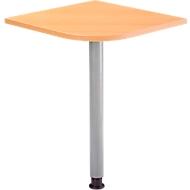 Aanbouwtafel Clubwork, met steunvoet, B 566 x D 566 x H 680-760 mm, beukenpatroon