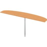 Aanbouwtafel, ellips, B 1800 x D 400 mm, beuken/blank aluminium