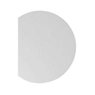 Aanbouwtafel JENA, 1-poot, B 800 x D 1000 x H 720 mm, onderstel aluminium zilver, lichtgrijs