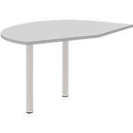 Aanbouwtafel, links, licht grijs