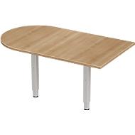 Aanbouwtafel PLANOVA ERGOSTYLE, boog, kersen-Romana-patroon/blank aluminium