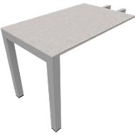 Aanbouwtafel SOLUS PLAY, rechthoekig, B 1000 x D 600 x H 720 - 820 mm, ceramic grey