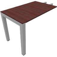 Aanbouwtafel SOLUS, rechthoekig, B 1000 x D 600 x H 720-820 mm, esdoorn Brazil