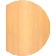 Aanbouwtafel TARA, boog, B 1000 x D 800 x H 720 mm, beukenpatroon