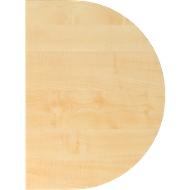 Aanbouwtafel TOPAS LINE, voor elektrisch in hoogte verstelbare bureautafels, D 600, esdoorn/zilver