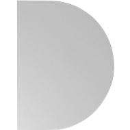 Aanbouwtafel TOPAS LINE, voor elektrisch in hoogte verstelbare bureautafels, D 600, lichtgrijs/zilver