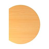 Aanbouwtafel ULM, links of rechts, B 800 x D 1000 x H 650 - 850 mm, beukenpatroon