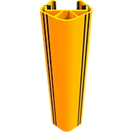 Aanrijdbeveiliging voor magazijnstellingen RackGuard (S), voor stellingen met stijlbreedte 102 mm en stijldiepte 45 mm, kunststof