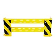 Aanrijdbeveiling-railing met hoekbeschermers, variabel 1050-1150