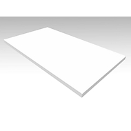Abdeckplatte SOLUS PLAY, f. Anstellcontainer SOLUS PLAY, B 800 x T 500 mm, weiß
