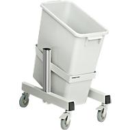Abfallbehälter Serie TPB, Ausführung, fahrbar, Winkel einstellbar, einfach
