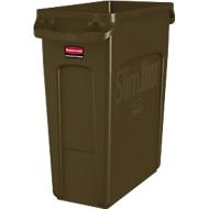 Abfallbehälter Slim Jim®, Kunststoff, Fassungsvermögen 60 Liter, braun