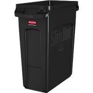 Abfallbehälter Slim Jim®, Kunststoff, Fassungsvermögen 60 Liter, schwarz