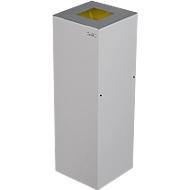 Abfalleimer Alicante, 45 L, selbstlöschend, weiß/alu