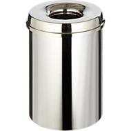 Abfallsammler für Innenanwendung, 30 L, selbstlöschend, Korpus Edelstahl/Deckel Edelstahl