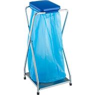 Abfallsammler mit Boden, 70 l, Deckel blau