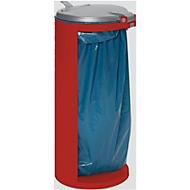 Abfallsammler mit hinterer Öffnung, rot, Gewicht 8,75 kg