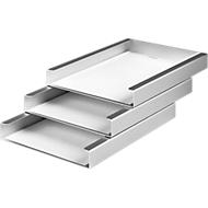 Ablagekorb, DIN A4, 3 Fächer, Aluminium eloxiert