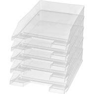 Ablagekorb Economy, DIN C4, 5 Stück, glasklar