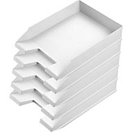 Ablagekorb Economy, DIN C4, 5 Stück, lichtgrau