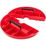 Ablageschale Toolbox, Kunststoff, 2-tlg., rot, Ø 420 x H 50 mm