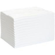 Absorptiedoekjes voor olie First L, absorptie van 139 l, niet geperforeerd, L 500 x B 400 mm, wit, 200 stuks