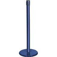 Absperrpfosten GLA45, ohne Gurt, H 955 mm, mit Leerkassette, blau