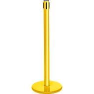 Absperrpfosten GLA45, ohne Gurt, H 955 mm, mit Leerkassette, gelb