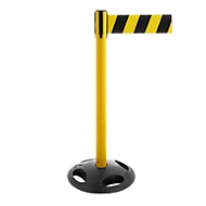 Absperrpfosten RS-Guidesystems GLA 26, gelb, Gurt schwarz/gelb, 2 Stück