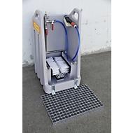 Abstreifrost für Grobschmutz für PE-Stiefelreiniger, Stahl verzinkt, B 600 x T 394 x H 30 mm