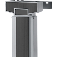 Accentlijsten +/- 45° + 90 °, handmatig in hoogte verstelbaar, grafiet, 9 stuks