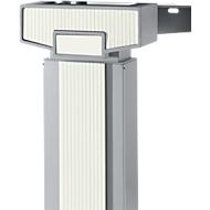 Accentlijsten +/- 45° + 90 °, handmatig in hoogte verstelbaar, wit, 9 stuks