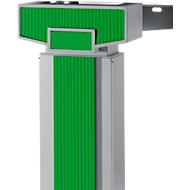 Accentlijsten PLANOVA ERGOSTYLE, voor bureautafel, tweetraps verstelbaar, 6 stuks, groen