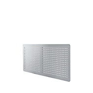 Achterwand, 1200 mm breed, voor bureautafels, blank aluminium