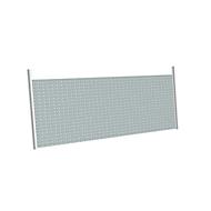 Achterwand voor aanbouwhoektafels/hoekbladen, voor bureautafel B 1200x1200 mm CAD, H 470 mm, blank aluminium