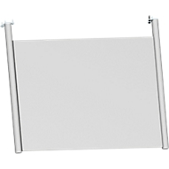 Achterwand, voor bureautafel B 800 mm, H 470 mm, blank aluminium