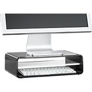 Acryl-Medienträger mit Boden, 350 x 230 x 100 mm, schwarz/weiß
