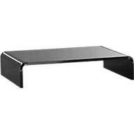 Acryl-Medienträger U-Form, 350 x 230 x 70 mm, schwarz