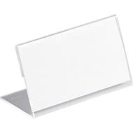 Acryl naambadges voor tafels, L-vorm, 52 x 100 mm, 10 stuks