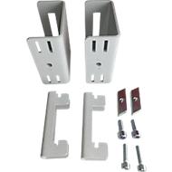 Adapterset serie TPB, voor LCD-knikarm serie TPB, montage aan opbouwprofiel