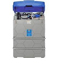 AdBlue-tank CUBE, Kant-en-klare installatie, versch. afmetingen, 1500 l, overvulbeveiliging, Elektrische pomp 230V