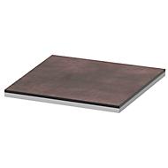 Afdekplaat TEQSTYLE, kanten 2-kleurig, B 400 mm, kwartsiet