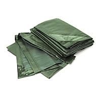 Afdekzeil, standaard, 10 x 15 m, groen