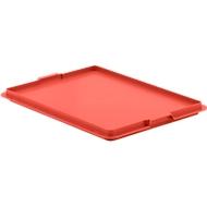 Afsluitdeksel EF-D 43 voor Euronorm bakken, rood
