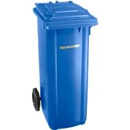 Afvalbak GMT, 140 l, verrijdbaar, blauw