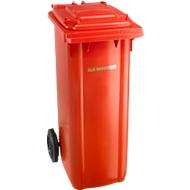 Afvalbak GMT, 140 l, verrijdbaar, rood