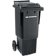 Afvalbak GMT, 60 l, verrijdbaar, zwartgrijs